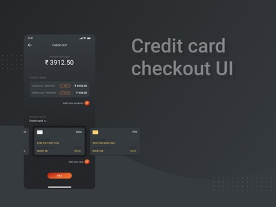 Credit card checkout UI
