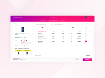 Point of sale - Invoise