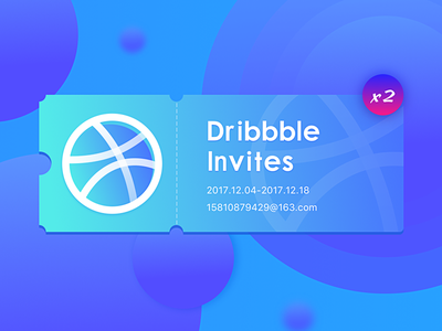 2x Dribbble Invites invited、code