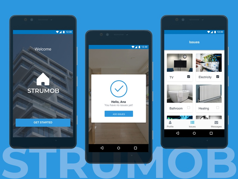 Strumob - organisation app for tenants and landlords
