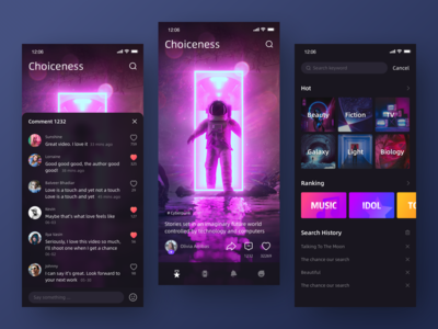 Short Video App UI