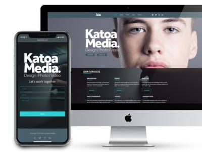 Katoa Media website redesign