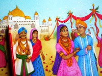 A little preview of my Indian royal wedding illustration