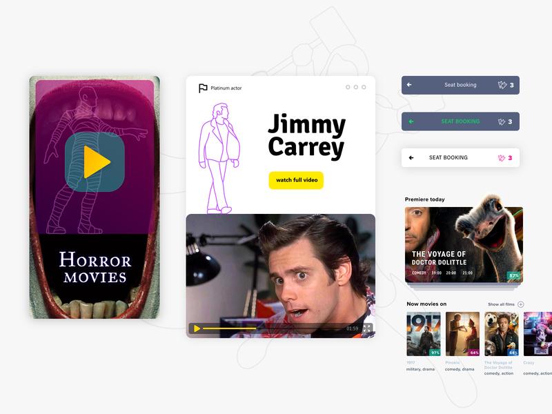 UI app cinema design actors film cinema ux ui uiux