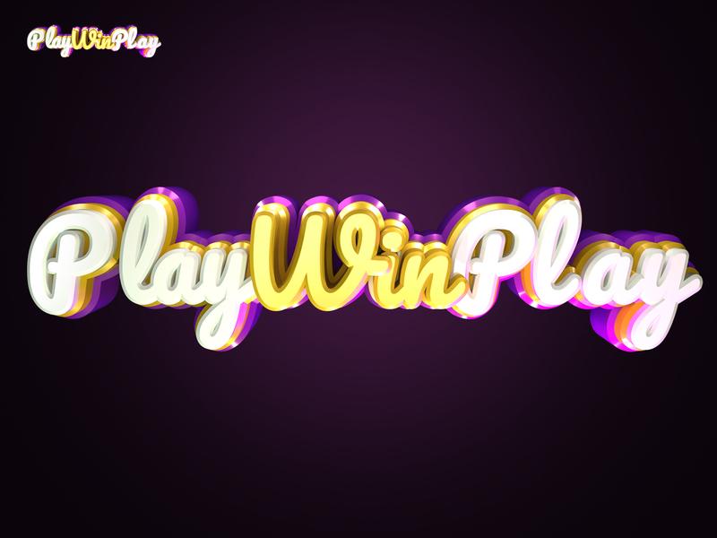 PlayWinPlay logo 2d art branding icon typography design logo 2d maya wacom intuos wacom