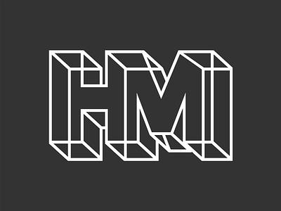 Personal Brand Experiment logotype typography type design brand perspective unreal monogram logo