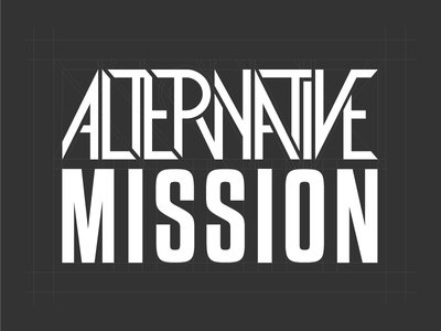 Alternative Mission Type logotype typography type design brand grid letter monogram logo