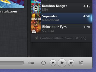 Playback music app os x playback controls buttons glyphs play light ui