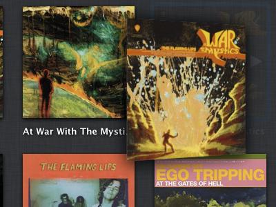 Album Flipping music app os x animation ui