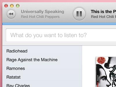 Music app refresh music app os x playback controls side bar search bar ui