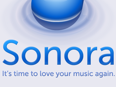 Sonora. Music App for Mac Alpha music website app