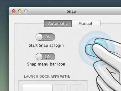 Snap Redesign 1 app mac os x preferences prefs switch ui