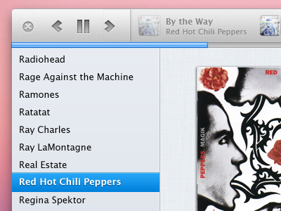 Yet another top bar test music app os x playback controls progress bar ui