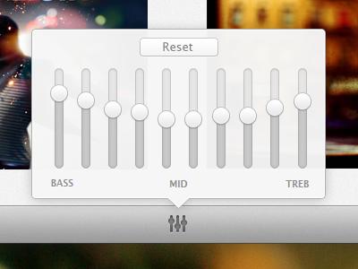 Equalizer music app os x equalizer eq popover ui