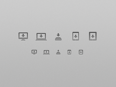 Save Icon Set save icons glyphs ui mac imac macbook mac mini iphone ipad