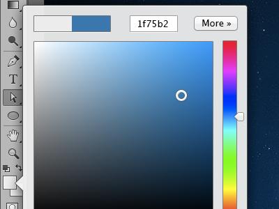 Photoshop color picker concept photoshop ui concept color picker mockup