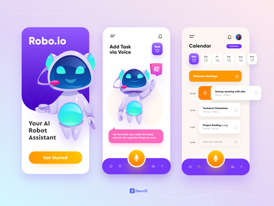 AI Task Management Assistant UI Mobile App dribbble application brand identity vector uiux 3d animation art logo typography app illustration graphic design web ux ui mobile app design design branding