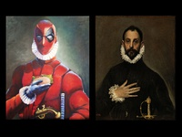 Deadpool + El Greco: the nobleman with taco on his chest.
