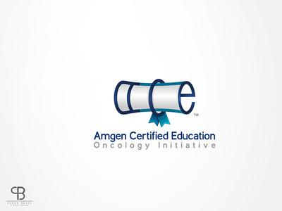 amgen certified education سراج brand id creative basel serag blue ace logo certified amgen education