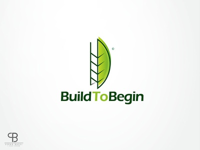 build to begin logo bridge blue identity brand logo creative begin build