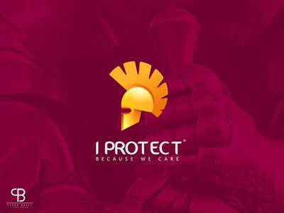 i protect presentation rollup creative gloden roman knight brand logo