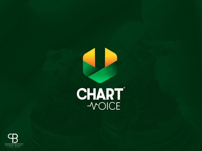 chart voice باسل سراج basel serag brand cv gloden markting stock logo voice chart