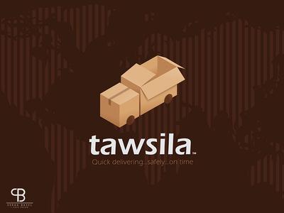 tawsila firm basel serag isomatric presentation ratio golden box package truck shipping