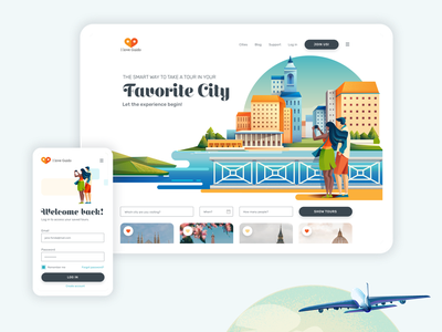 I love Guido wesbite food community travel interface ux typography illustration website design ui