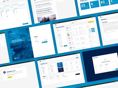 Container Exchange Platform - Streamline product design ux dashboard app port logistics ui design interface