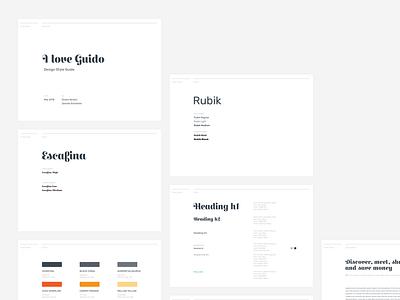 GUIDO // styleguide layout grid online website visual styleguide design typography ui