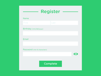 Daily UI #01: Sign-Up Form