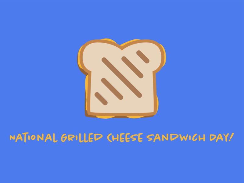 Oh Grate, Another Grilled Cheese Day Post sandwich grilled cheese cheese typography vector design illustration