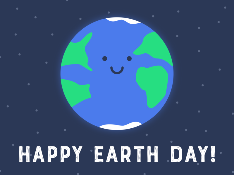 Earth Day green enviroment space earth day earth illustration design