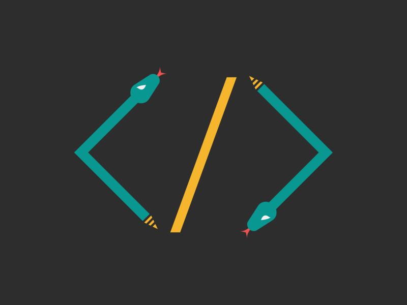 Snake / Web Developer Logo Idea vector logo developer snake identity design brand