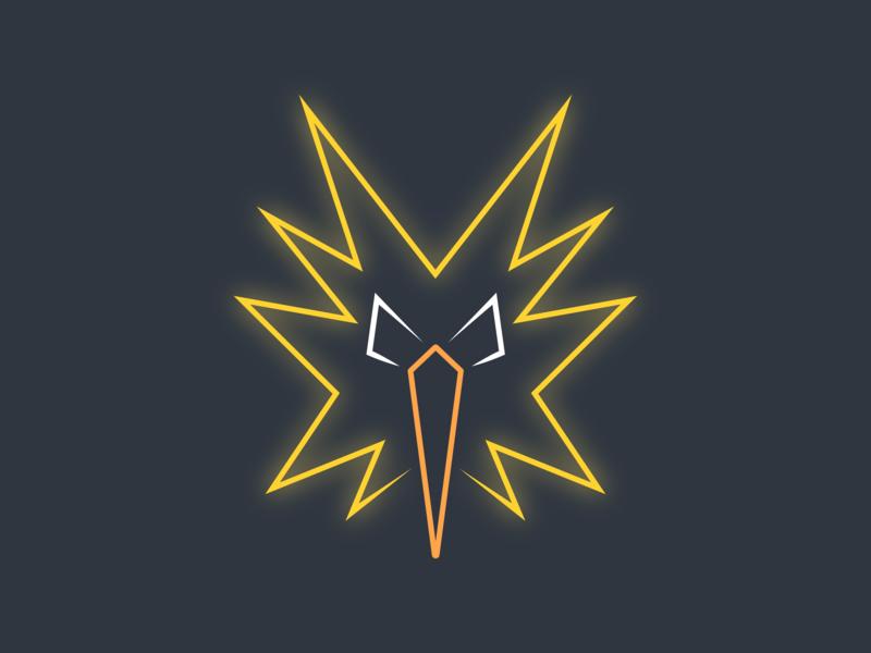 Zapdos icon bird electric design illustration zapdos pokemon