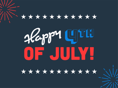 Happy Fourth of July! fourth of july 4th of july typography holiday america independence