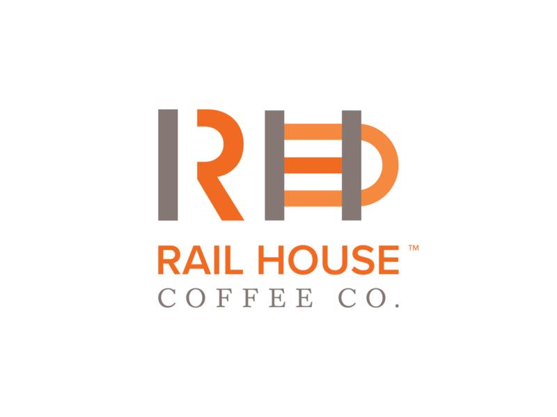 Rail House Coffee Co. train railroad coffee vector mark logo illustration identity branding brand