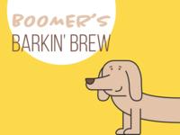 Boomer's Barkin' Brew typography sign bark wiener dog dachshund brew illustration