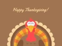 Happy Thanksgiving! happy thanksgiving thanksgiving gobble turkey holiday design