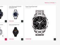 Anytime Denmark - Online Watches Store Design