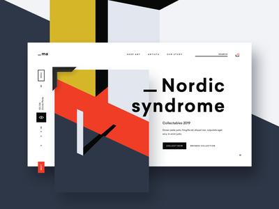 Modern Art Web Shop Concept