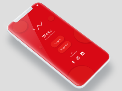 wake app iphone UI elements