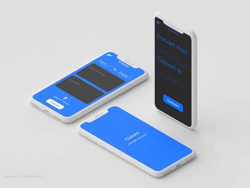 Translator app  UI design travel app card design lite theme dark theme microphone speakeasy translator app app design flat vector design app ux ui