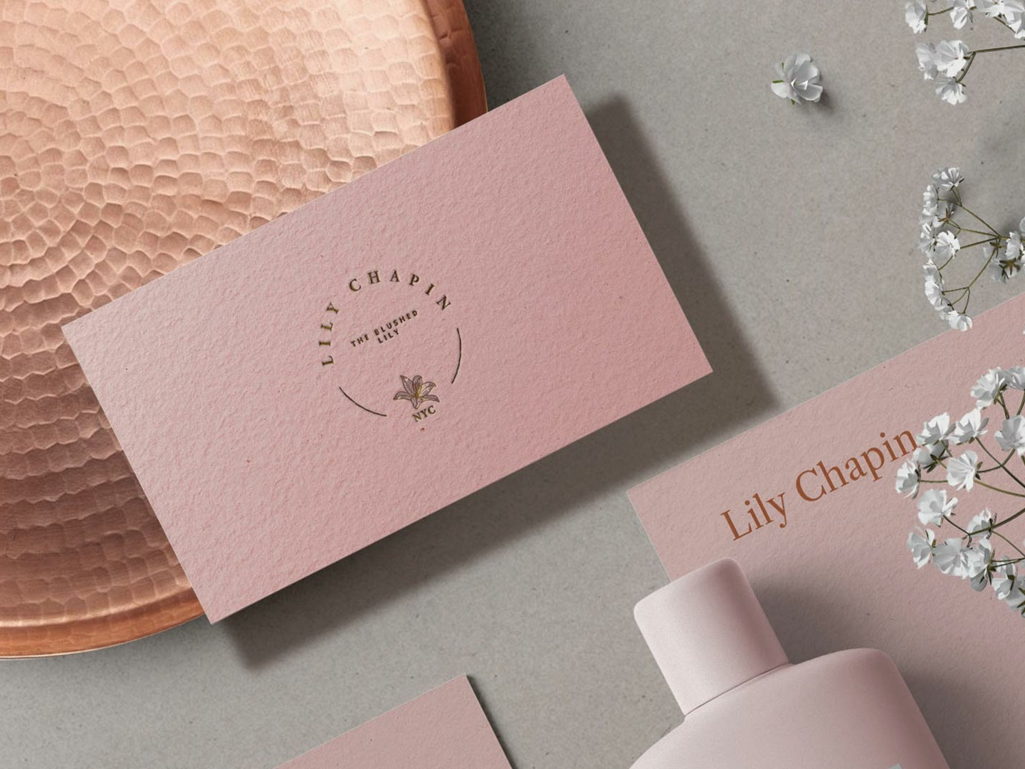 Logo - Liliy Chapin - The Blushed Lily desiger vector type brand mark idenity design logo branding