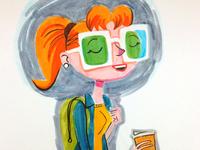Girl wearing Funglasses