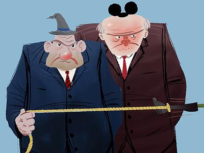 Corporate Goons tim paul timpaulillustrations coprorate goons thugs big business