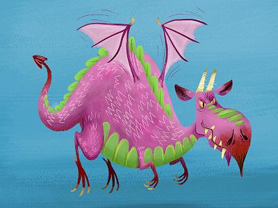 Fat Purple Dragon wyrm dragons smaug drake dragon