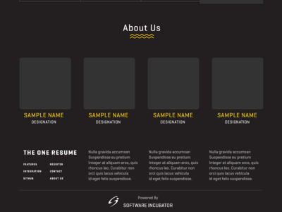 The One Resume - Homepage UI Design