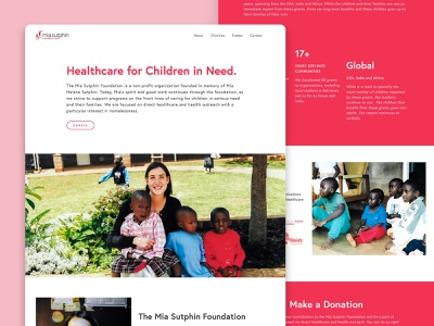 Mia Sutphin Foundation design website