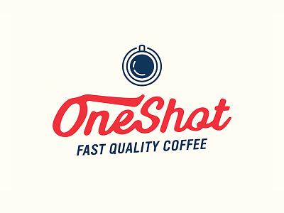 Oneshot Coffee typography logo design branding